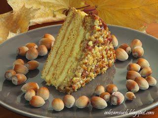 Obżarciuch: Ciasto orzechowo - miodowe