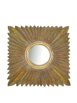 8% OFF Convex Square Sunburst Mirror