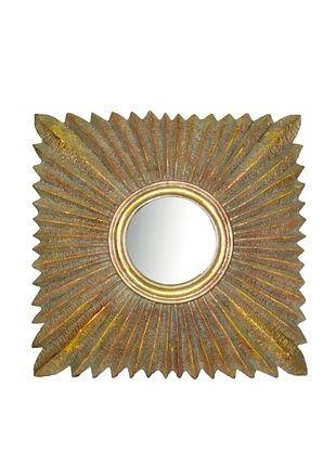 8% OFF Convex Square Sunburst Mirror