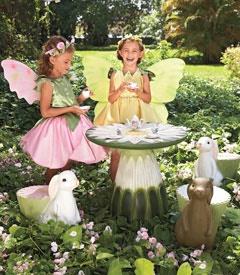 Fairies at the bottom of the garden.