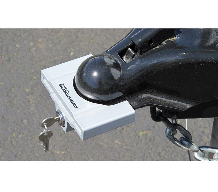 Strong, tough and simple to use. The BLOCKHEAD Trailer Coupler Lock for unattended trailers features high tech materials that redefine the traditional lip-engaging coupler lock. Extruded, tempered alu
