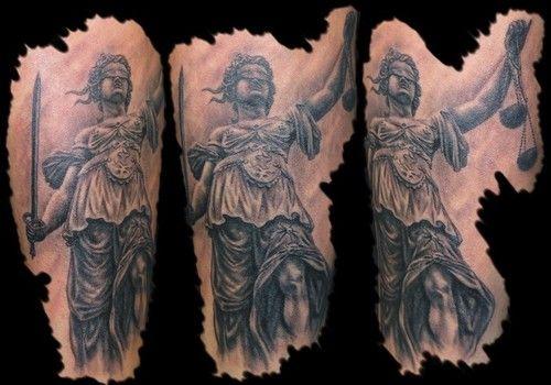 Justice Tattoo - http://16tattoo.com/justice-tattoo/