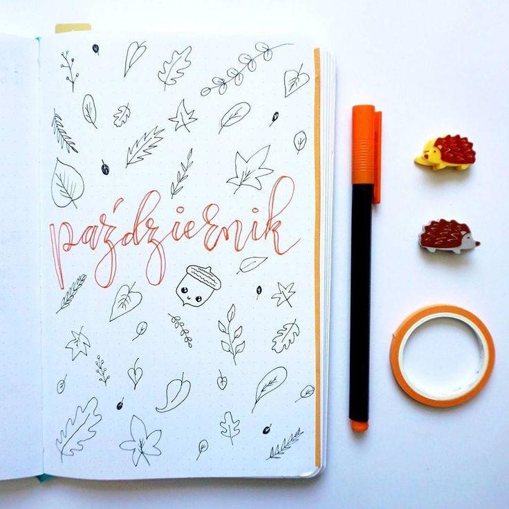 Witamy jesienny październik!  W moim bujo postawiłam na kolor pomarańczowy  a jaki u Was kolor króluje w tym miesiącu?   #pazdziernik #spadajaceliscie #bulletjournal #bujo #bulletjournaling #bujojunkies #bujolover #bujomaniac #planer #planner #planneraddict #planeridealny #bujopolska #bujopl #bujocommunity #bulletjournalpolska #planwithme#doodles #doodling #rysunki #planowanie #zarzadzanieczasem #organizacja #priorytety #devangariart #bujoideas #bujoinspire