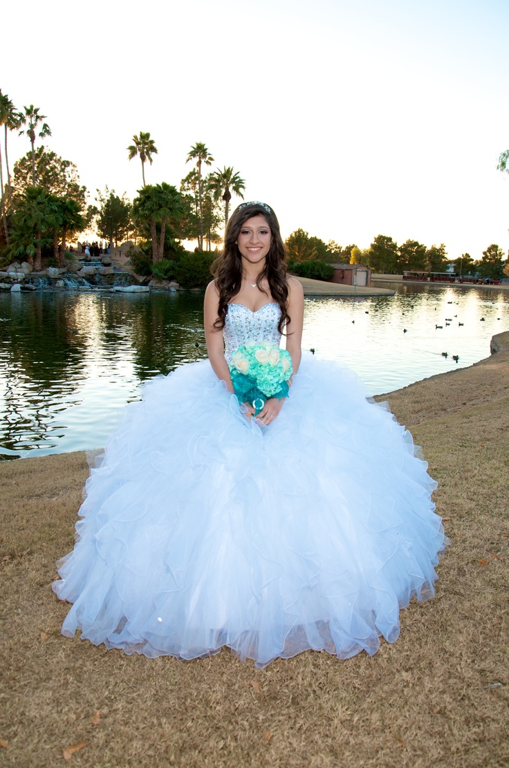 white with rhinestones | Quinceanera dresses | Pinterest | Rhinestones