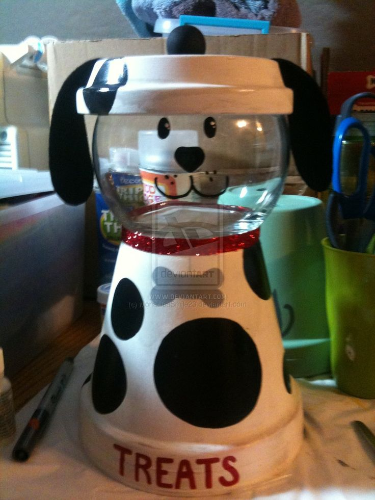 Dalmation Dog treat container by MonaLisaSmile23.deviantart.com on @DeviantArt
