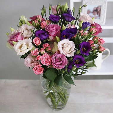 Rose and Lisianthus Bouquet With Free Express Delivery - From Lakeland