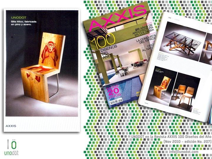 2da Publicación Unodot en Revista AXXIS - Edición 100 Diseños del Año (Noviembre 2010)