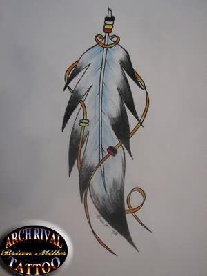 Feather Tattoo Designs: Eagle feather tattoo symbolism