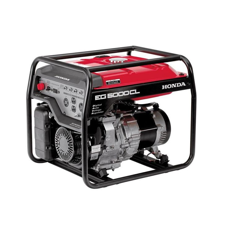 5000-Watt Gasoline Generator with GX390 OHV Commercial Engine and Oil Alert