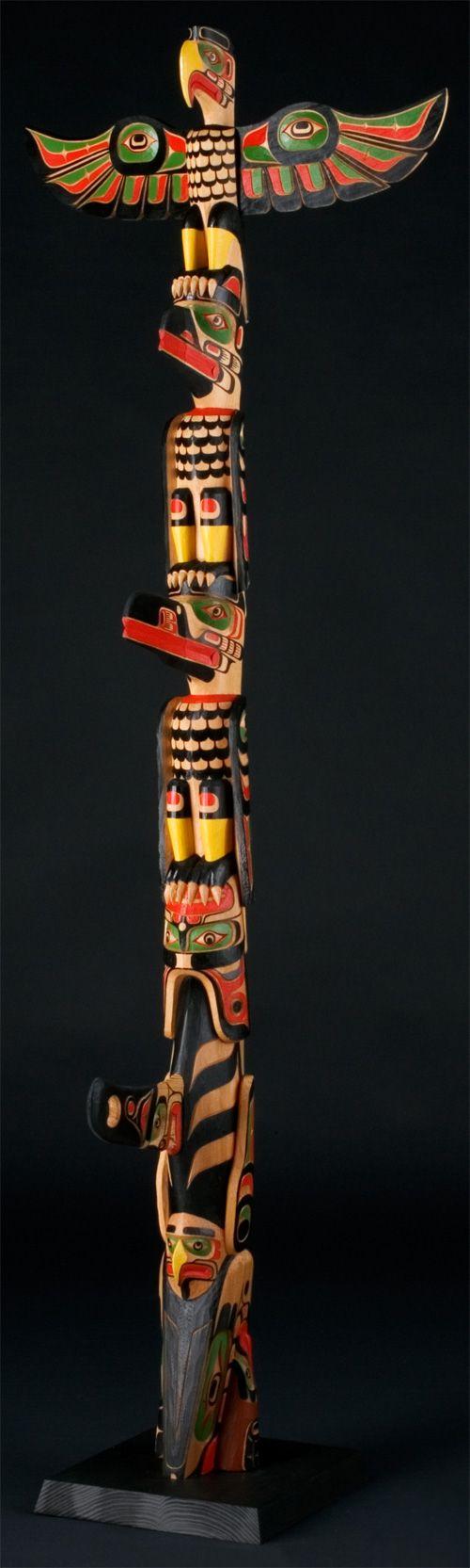 Eagle, Raven, Hok Hok, Killerwhale Totem Pole by Richard Hunt, Kwakwaka'wakw (Kwagiulth) artist