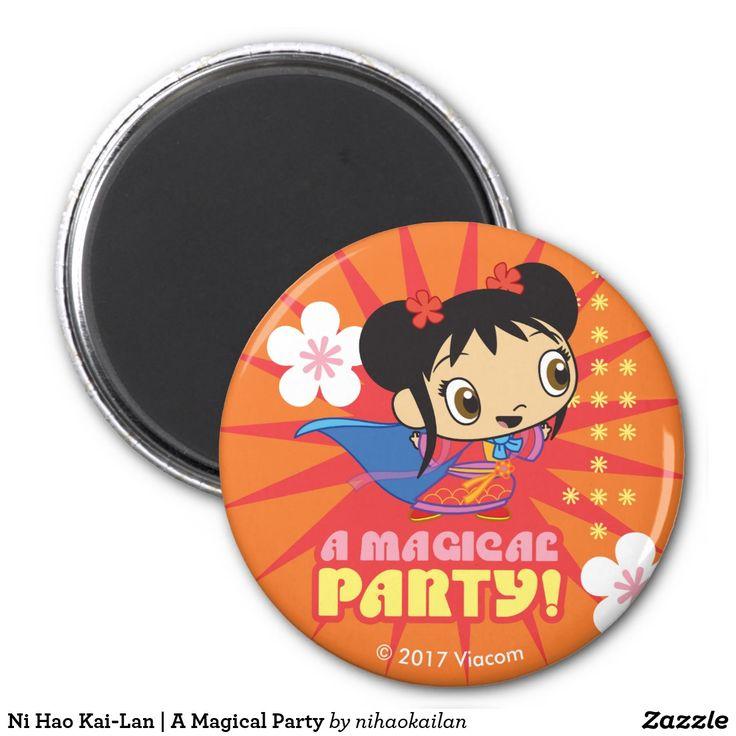Ni Hao Kai-Lan | A Magical Party. Producto disponible en tienda Zazzle. Decoración para el hogar. Product available in Zazzle store. Home decoration. Regalos, Gifts. #imanes #magnets