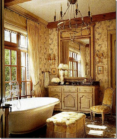 Beautiful bath full of french accents love for the for Romantic master bathroom