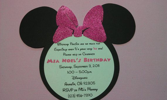 Handmade Minnie Mouse Birthday Invitation by uniqueboutiquebygami, $15.50: Sparkly Hot, Mouse Birthday, Handmade Minnie, Bow Qty, Minnie Mouse, Birthday Invitations, Pink Bows, Hot Pink, Party Ideas