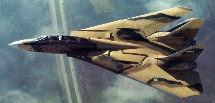 Pre-delivery photograph of the first F-14A built for Iran, taken during a test flight. This aircraft was re-serialled as 3–6001 immediately upon delivery to Iran in January 1976. Northrop-Grumman photo