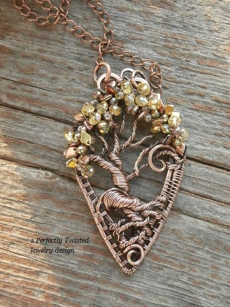 SOLD! Wire Weaved Wrapped Tree of Life Dragon Scales by PerfectlyTwisted