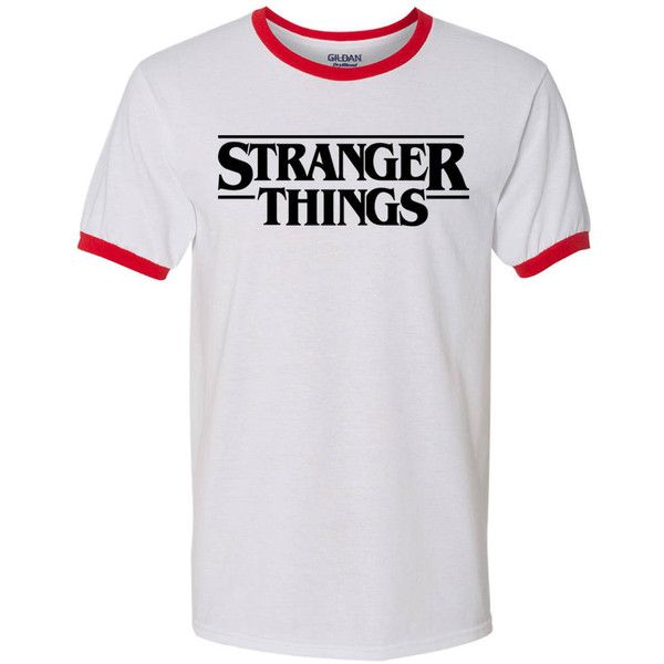 Stranger Things Shirt. Stranger Things Merchandise. Stranger Things... ($15) ❤ liked on Polyvore featuring tops, t-shirts, grey tee, grey t shirt, shirt top, t shirts and gray top