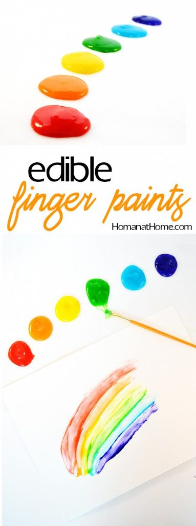 A 4-ingredient recipe for edible finger paint with vibrant colors. These dry nicely so you can keep your little ones artwork for years to come!