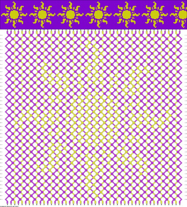 Friendship Bracelet Patterns - Disney Tangled Sun (holy cow that is so many strands) Another goal!!