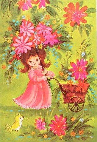 Vintage Card, great for spring time!