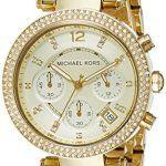 Michael Kors Montre Femme MK5354: Montre MICHAEL KORS femme - Boîtier rond (diam. 39 mm) en acier inoxydable doré, finition polie - 2…