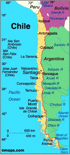 Best Chile Images On Pinterest Chile Constitution And Presidents - Chile cities maps