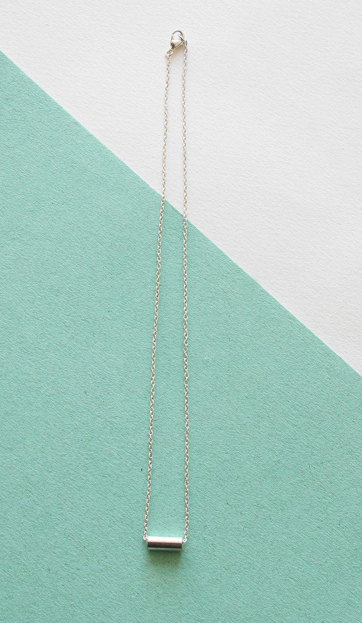 Collar tubo robusto plateado (2014 Spring-Summer collection)  www.facebook.com/sybillebcn