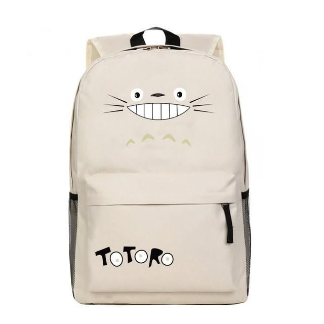 DUDINI Totoro Miyazaki Canvas Men And Women Shoulder Bags Cartoon Casual Computer Backpacks Leisure Package Anime TOTORO