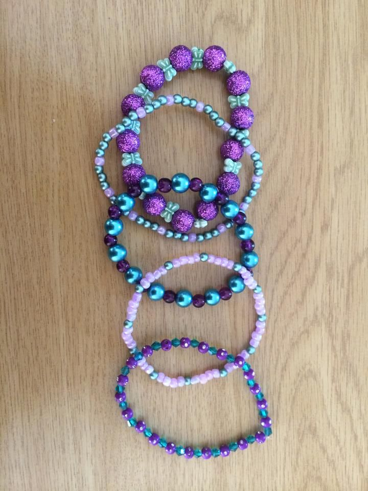 Purple and teal mix and match set 2