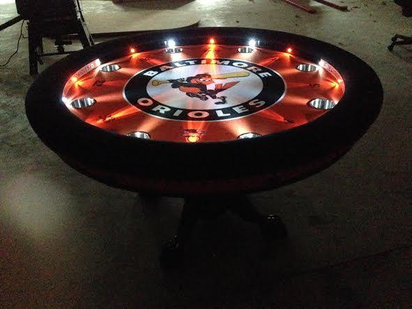 60 Quot Round Oversized Arm Rests Led Light System Custom