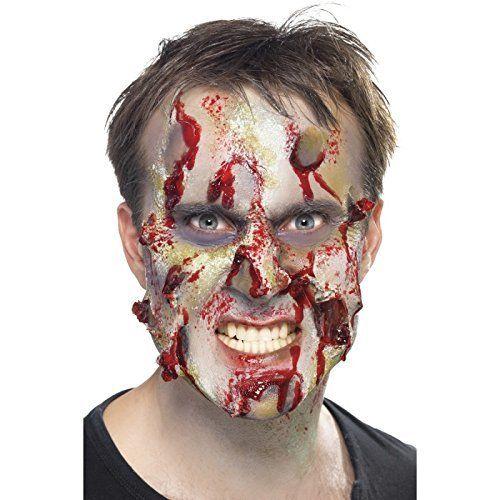 maquillage halloween zombie latex