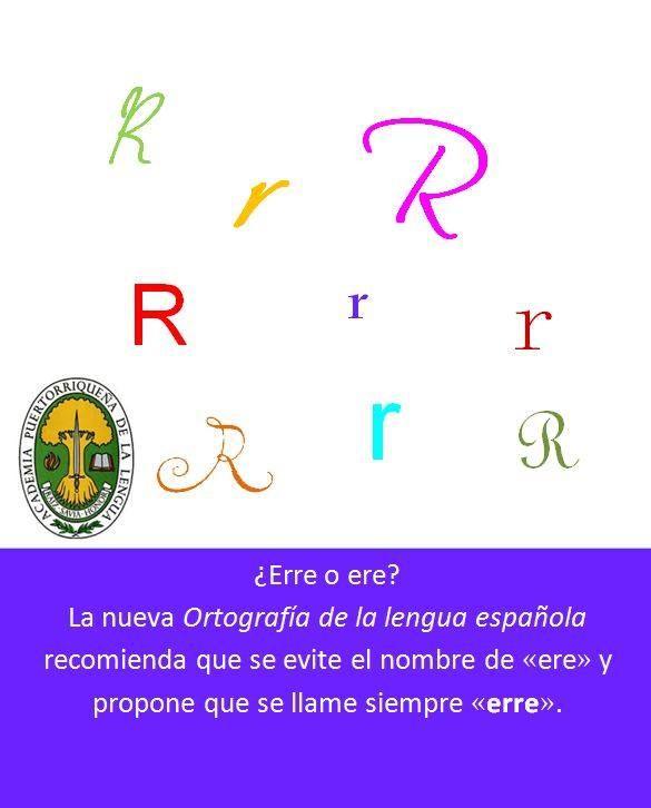 """¿Cómo se dice """"erre"""" o """"ere""""? La nueva """"Otografía de la lengua española"""" recomienda que siempre se llame """"erre."""""""