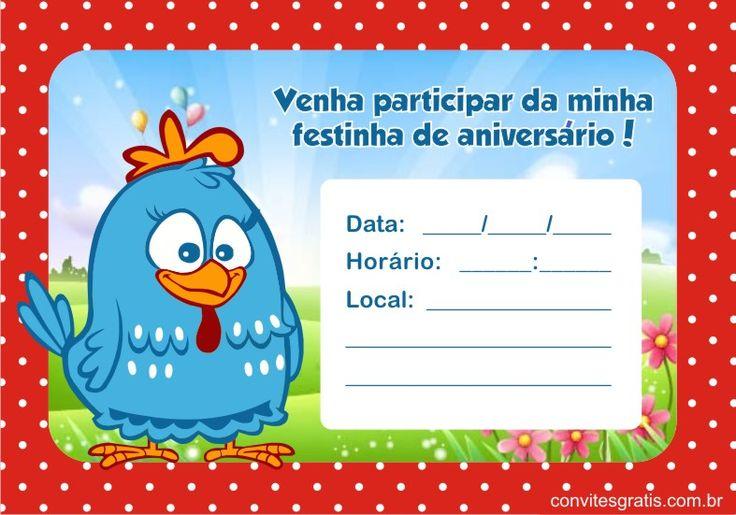 Convite Galinha Pintadinha                                                                                                                                                                                 Mais