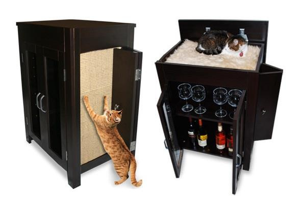 Cat furniture that doubles as a home bar (Photo: Cat Convertibles)