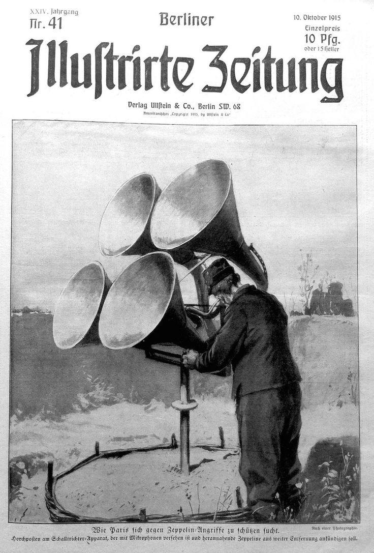 """""""Wie Paris sich gegen Zeppelin-Angriffe zu schützen sucht."""", """"Berliner Illustrirte Zeitung"""", 10.10.1915"""