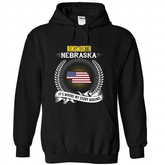 Born in AINSWORTH-NEBRASKA V01 - #shirt for teens #cute shirt. PURCHASE NOW => https://www.sunfrog.com/States/Born-in-AINSWORTH-2DNEBRASKA-V01-Black-Hoodie.html?60505