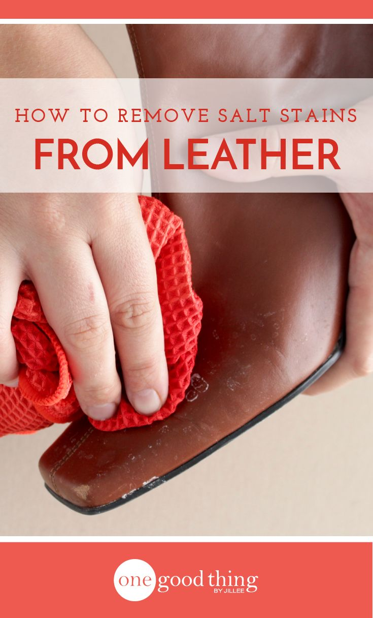 If your fave leather boots are still covered in last winter's salt stains, it's time to clean them up! Here's how to do it in 4 simple steps.