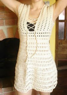Cute crochet bathing suite cover up love this!