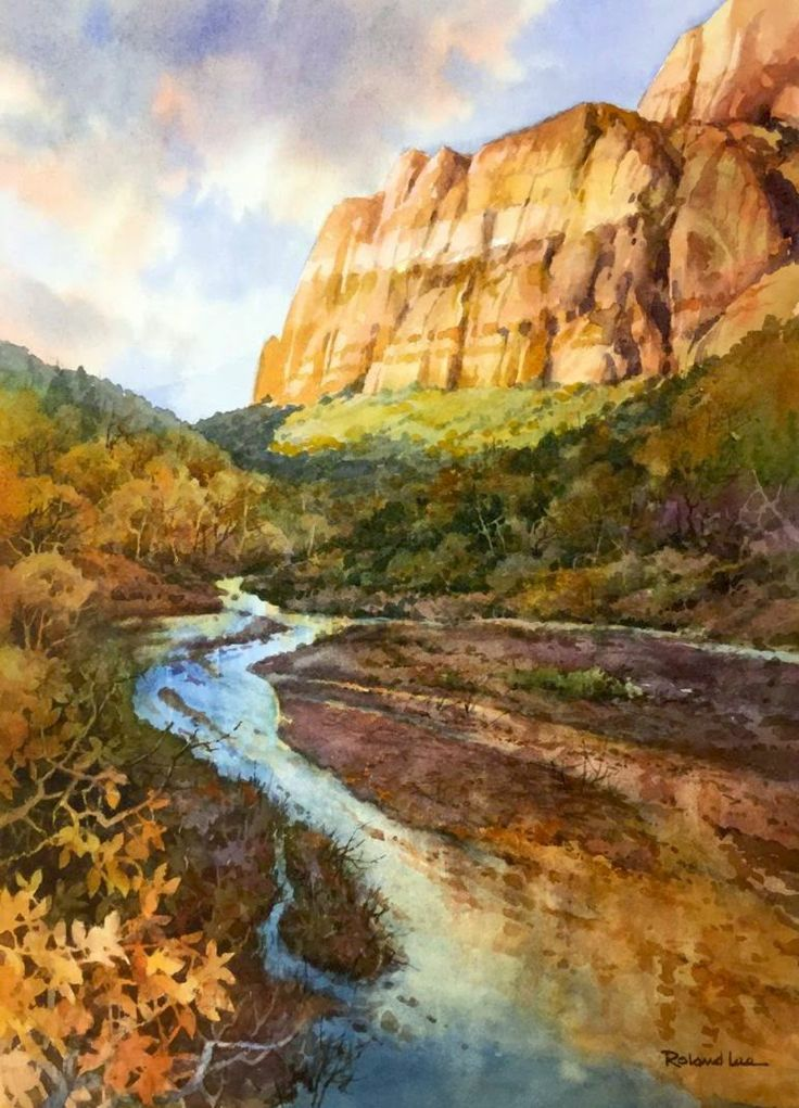 Zion National Park painting by Roland Lee