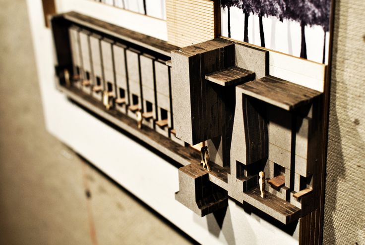 "Daniel Johnson, USF School of Architecture, Class of 2012 Thesis: ""The Architecture of Death: A Study of Thanantological Space & Mnemonic Ritualization"" - Spring 2012, Prof. Nancy Sanders Section Model/Graphic of ""The Imbeded Triumvirate"""