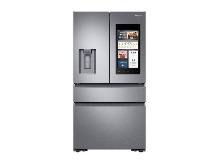 22 cu ft. Capacity Counter Depth 4-Door French Door Refrigerator with Family Hub™ 2.0 and Recessed Handles
