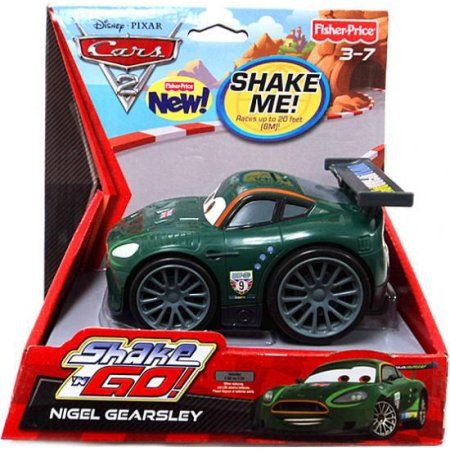 Disney Cars Shake 'N Go Nigel Gearsley Shake 'N Go Car, Multicolor