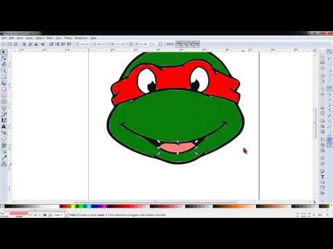 Updated Tracing An Svg Ninja Turtle Head Using Inkscape