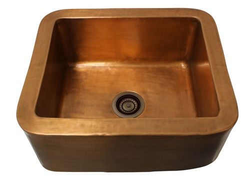 Eclectica Rochelle Brushed Copper Kitchen Sink