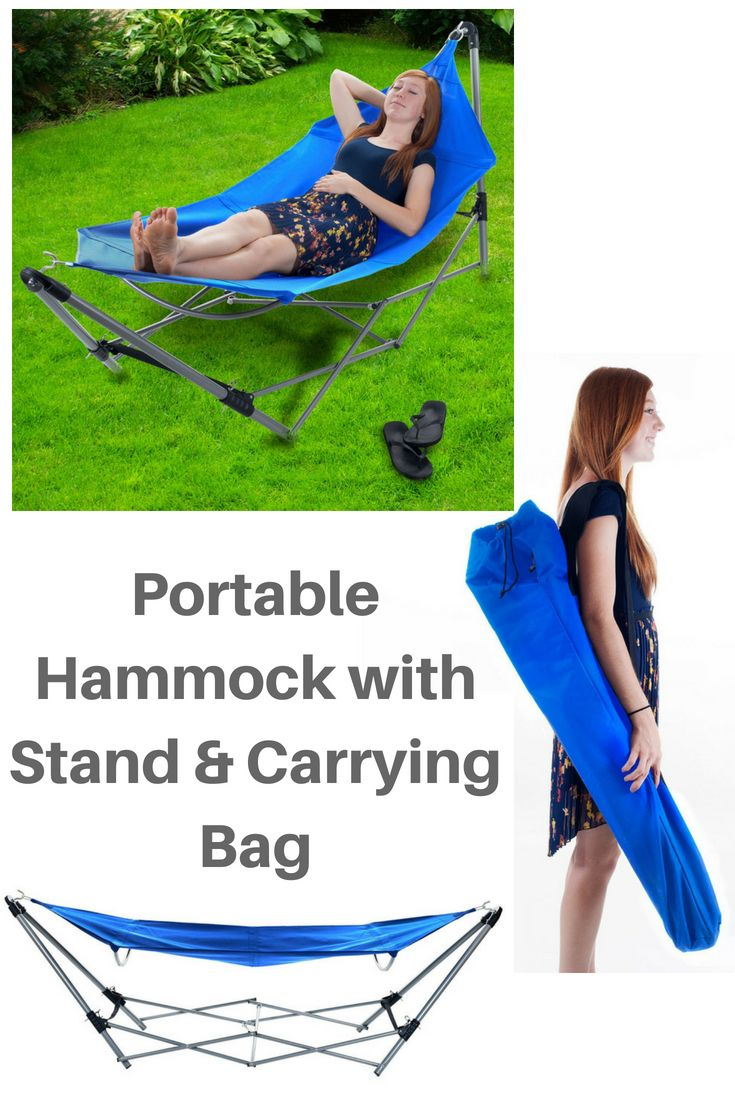 Portable Hammock With Stand And Carrying Bag By Pure Garden Relax