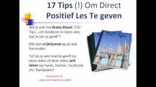 17 Tips Om Direct Positief Les Te Geven | Enthousiast + Positief Onderwijs Op De Basisschool, via YouTube.