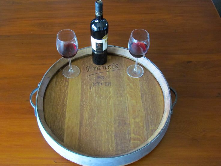 Wine Barrel Platter On A Lazy Susan.