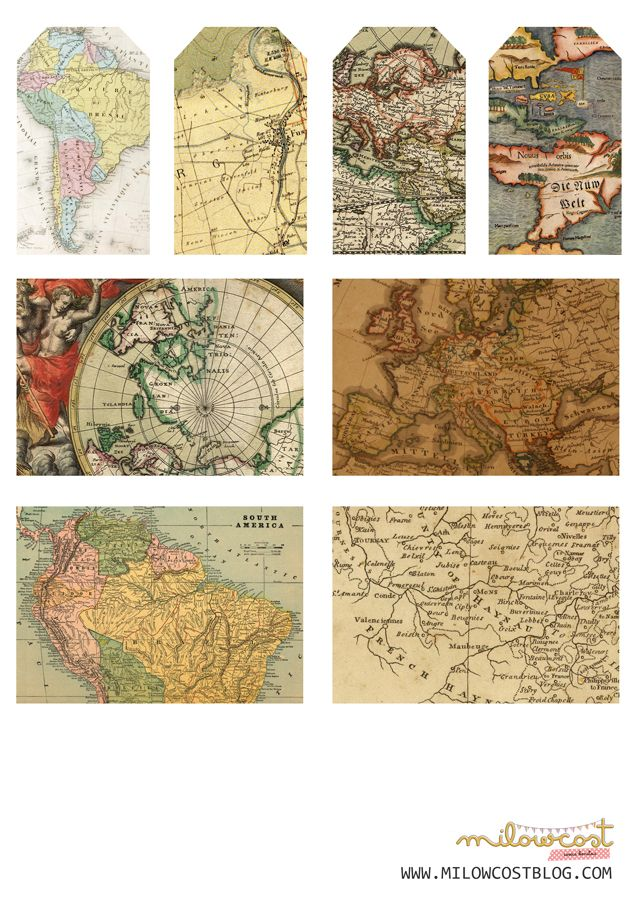 imprimible: etiquetas de mapa