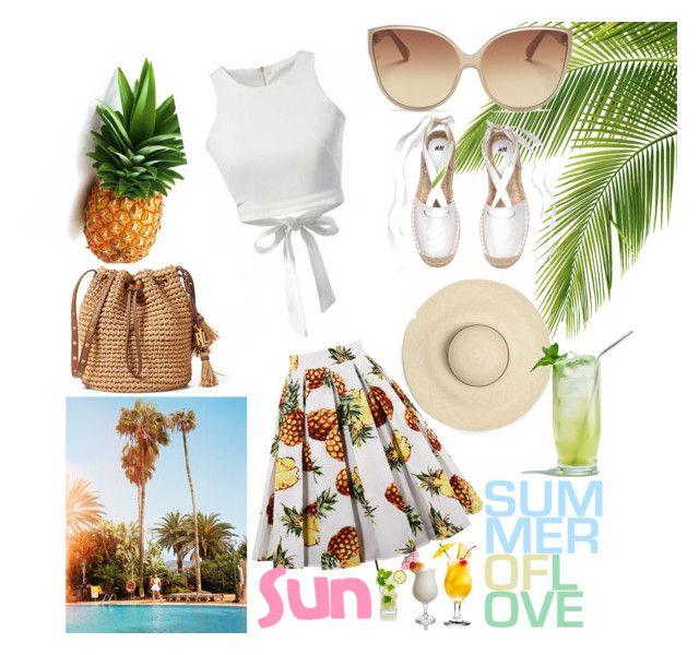 """summer"" by angelacerqua on Polyvore featuring Linda Farrow and Disney"