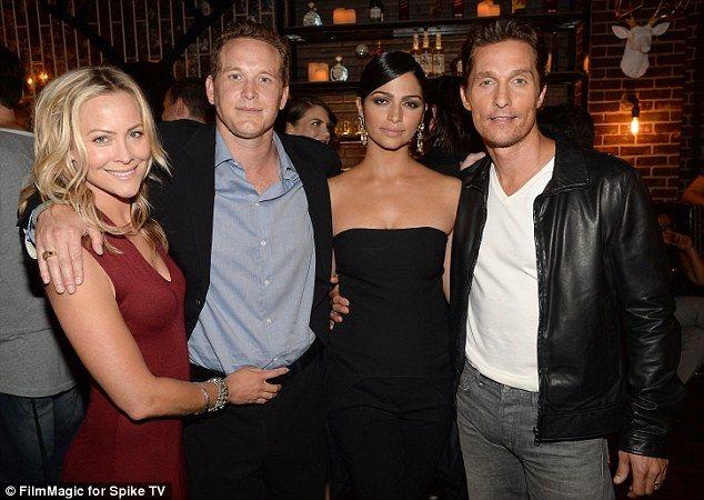 Cynthia Daniel and husband Cole Hauser, Camila Alves and her husband Matthew McConaug...
