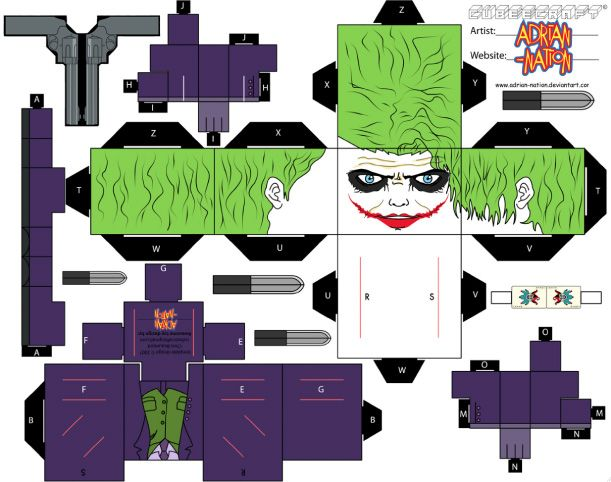 Blog Paper Toy papertoy The Joker template preview Paper toy the Joker (TDK version)